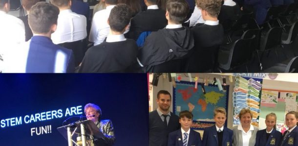 Deb Grubbe visits Larbert High School